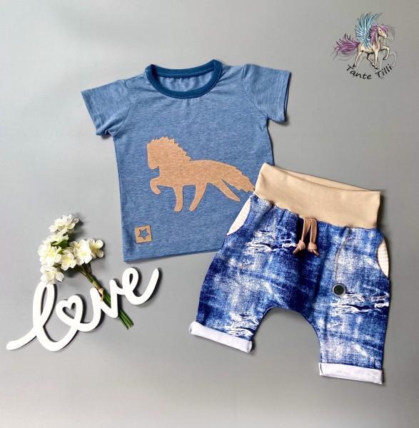 Set # Shorts # Shirt # 86 # blau