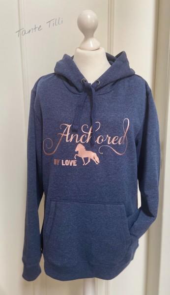 Hoodie # Gr. M # blau meliert # Anchored by Love
