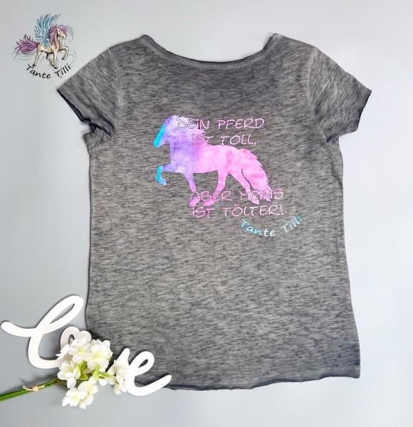 T Shirt # Gr. M # grau meliert # Watercolor