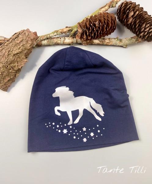 Mütze # dunkelblau # Sternentölter # REFLEKTOR # Einheitsgröße