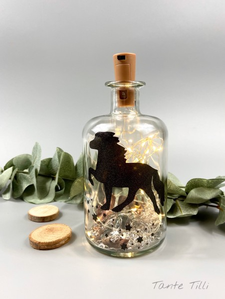 Flaschenlicht # klein # 500 ml # Sternentölter # silber