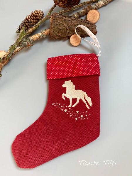 Weihnachtstiefel #rot #goldener Sternentölter