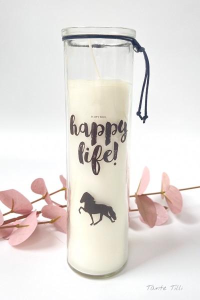 Kerze im Glas - happy life