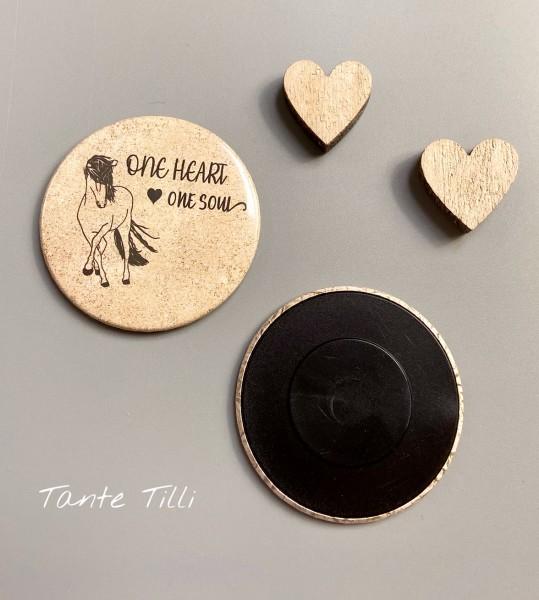 Button # Kühlschrank # Magnet # One heart one Soul