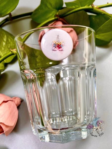 Button # Glasmarkierer # Fabelwesen # Farbverlauf # 25 mm