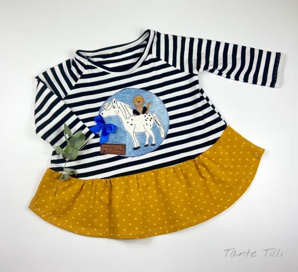 Tunika - Kleid Gr. 104/110 Pferd und Affe
