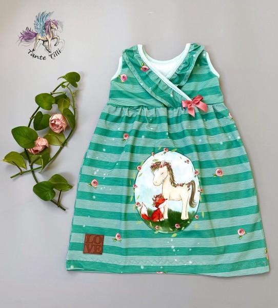 Kleid # Blumen # 98/104 # Pony
