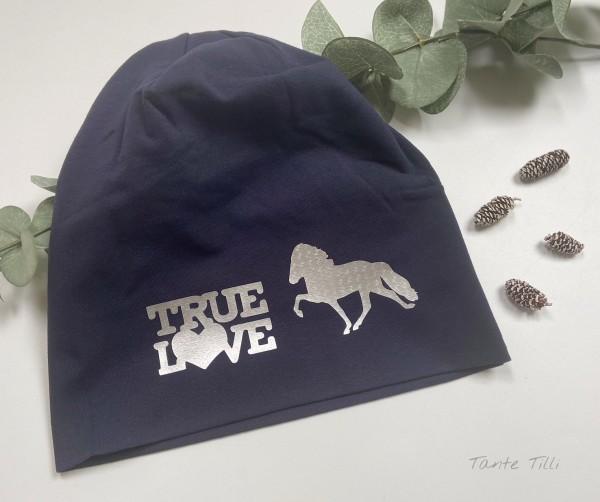 Mütze hellgrau - Einheitsgröße True Love dunkelblau - Hammerschlag