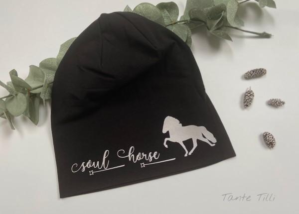 REFLEKTOR Mütze schwarz - Einheitsgröße - Soul Horse