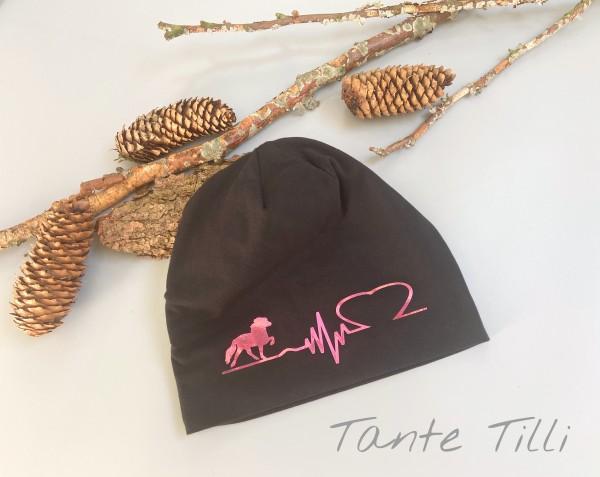 Mütze # schwarz # Heartbeat # Polar # Einheitsgröße
