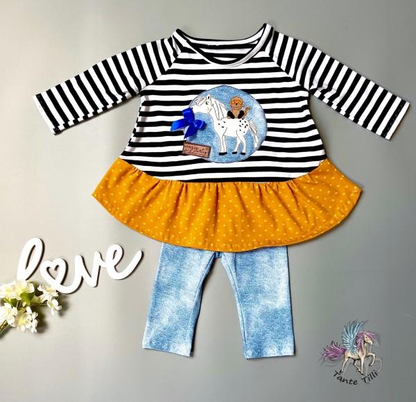 Tunika # Kleid # Leggings # gestreift # 104/110