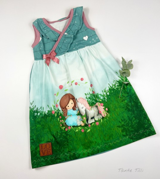 Kleid Gr. 98/104 Ponymädchen
