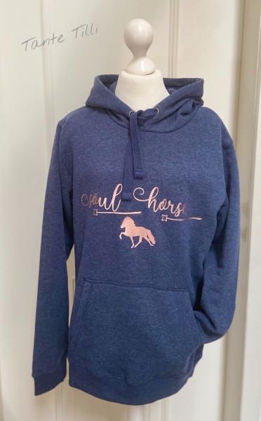 Hoodie # Gr. S # blau meliert # Soul Horse