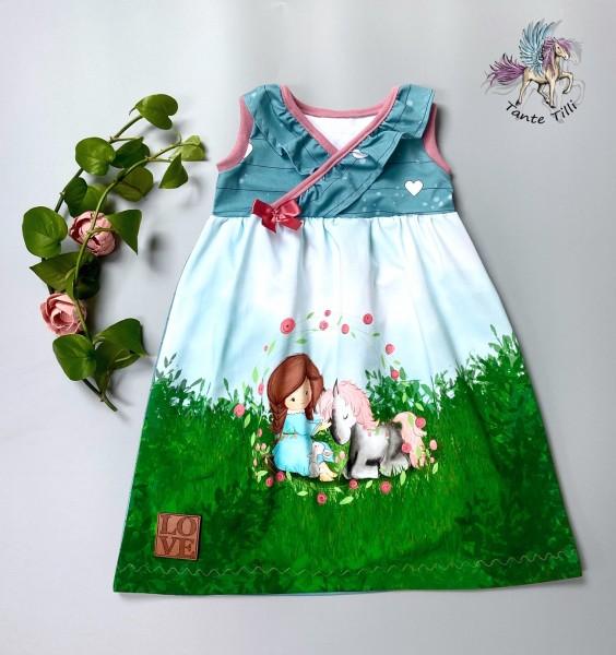 Kleid # Blumen # 98/104 # Ponymädchen