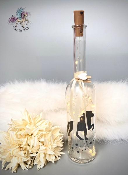 Flaschenlicht # groß 1000 ml # Sternentölter # anthrazit Glitzer