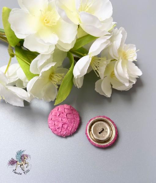 Knopf # pink # 23 mm # Fischleder # Durchmesser
