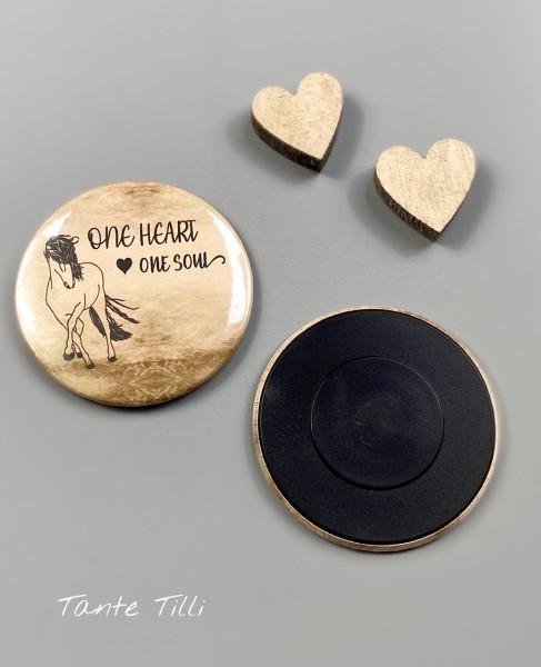 Button # Kühlschrank # Magnet # One heart one Soul Verlauf