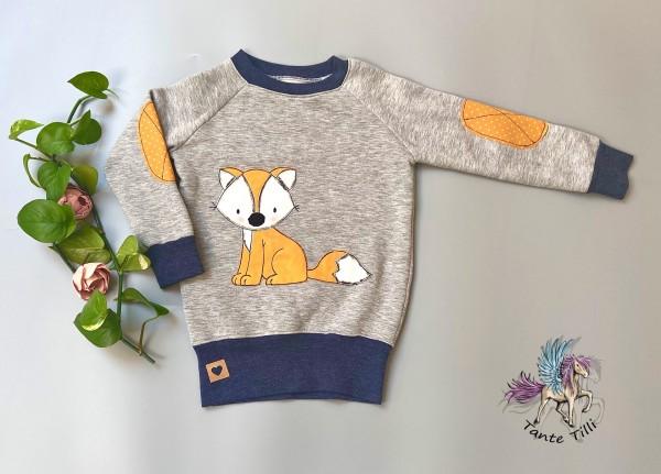 Pullover # grau # Fuchs # 110/116