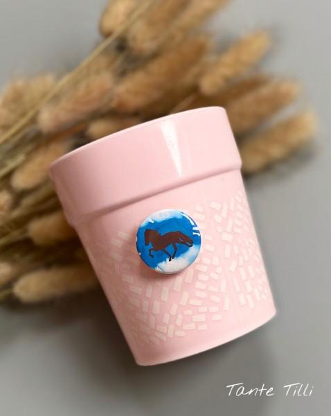 Button # Glasmarkierer # blau Farbverlauf # 25 mm