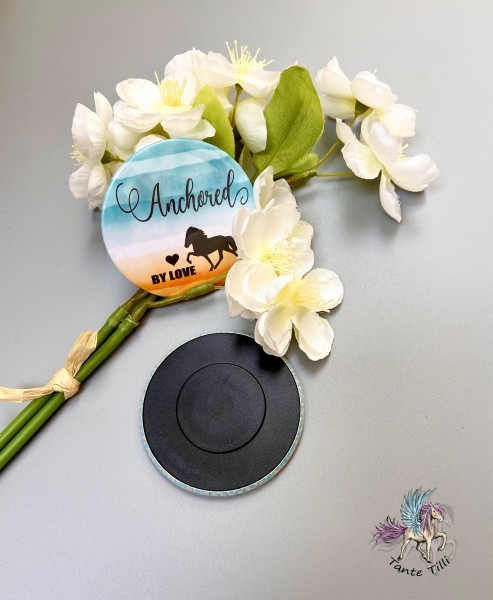 Button # Kühlschrank # Magnet # Anchored by love
