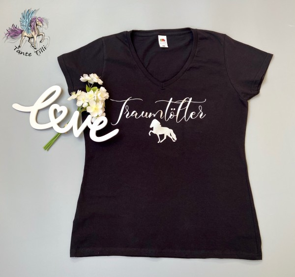 T Shirt # Gr. M # schwarz # Traumtölter