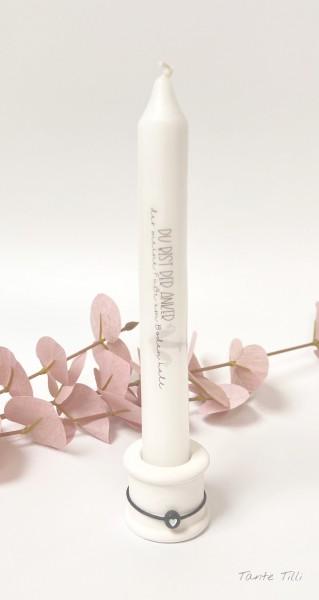Kerze mit Kerzenhalter - Du bist der Anker