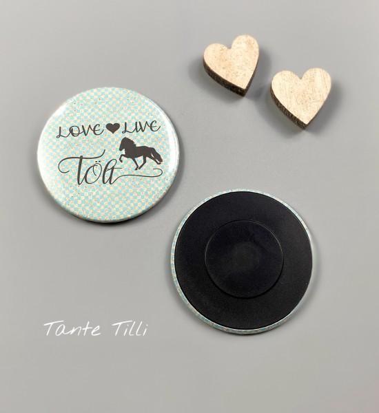 Button # Kühlschrank # Magnet # Love live Tölt # türkis