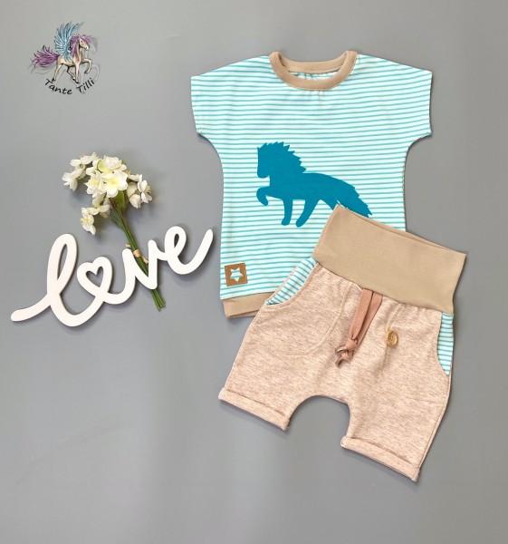 Set # Shorts # Shirt # 80 # beige
