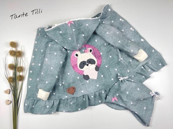 Set Gr. 86 bestehend aus Jacke und Mütze mit Panda
